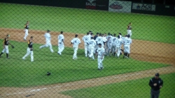 Extra Inning Win Celebration